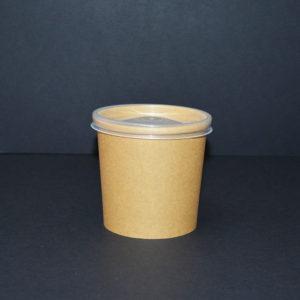 Bol supa, biodegradabil, cu capac de plastic